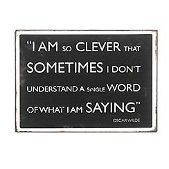 Parlane - Iron 'I am so clever' Oscar Wilde sign