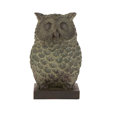 Gisela Graham - Brown resin owl bookends