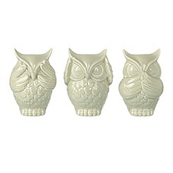 Parlane - Ceramic set of three 'See no evil' owls