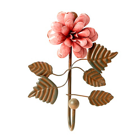 Gisela Graham - Brown 3D flower wall hook
