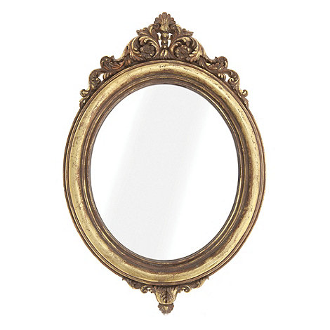 Sass & Belle - Gold oval mirror