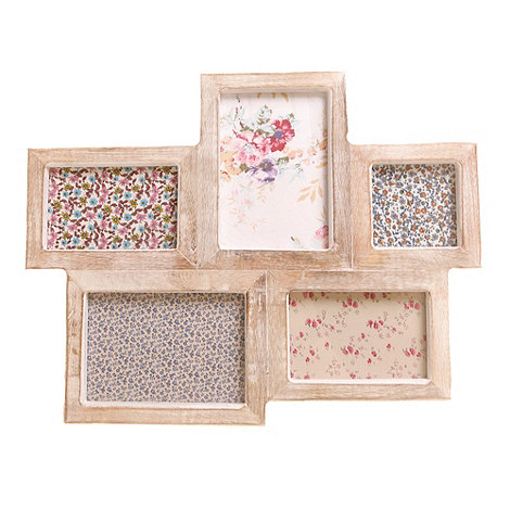 Sass & Belle - Light brown wooden five piece photo frame