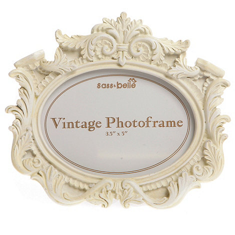 Sass & Belle - White ornate photo frame