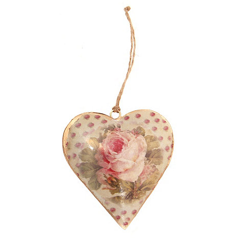 Sass & Belle - Cream rose hanging heart