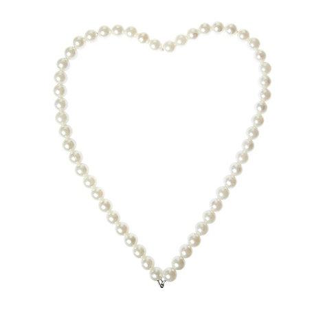 Gisela Graham - Ivory pearl hanging heart