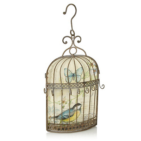 Heaven Sends - Silver bird cage key holder