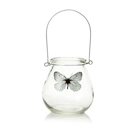 Parlane - Glass butterfly tea light jar