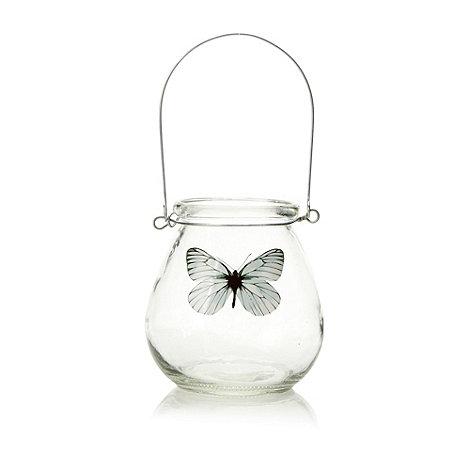 Parlane - Glass butterfly tea light jar