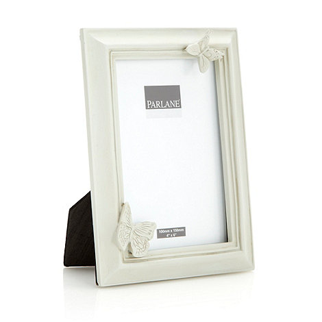 Parlane - Cream resin +Butterflies+ photo frame