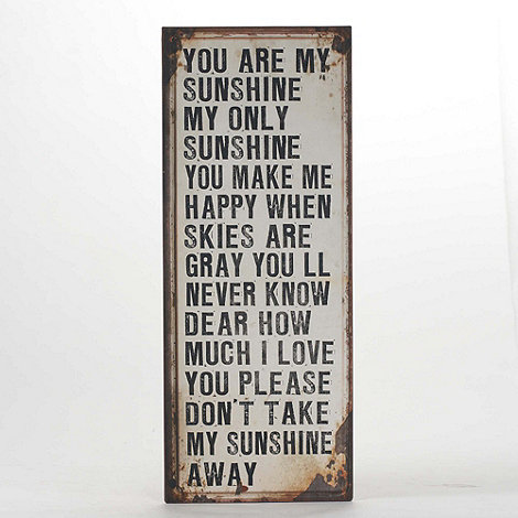 Heaven Sends - Cream 'You are my sunshine' sign