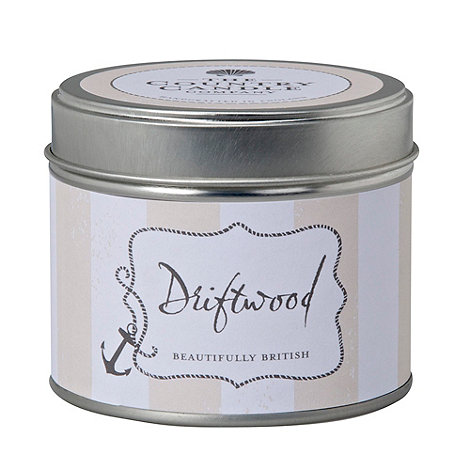 Country Candles - +Driftwood+ candle tin