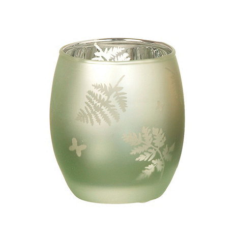 Parlane - Green leaf patterned tea light holder