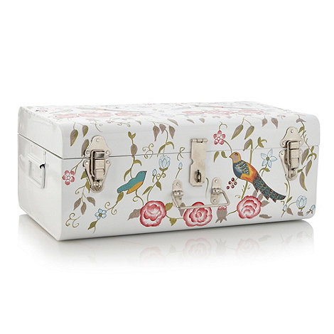 Butterfly Home by Matthew Williamson - White hand painted metal trunk