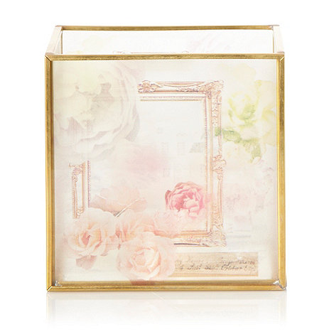 Butterfly Home by Matthew Williamson - Gold floral mansion printed tea light holder