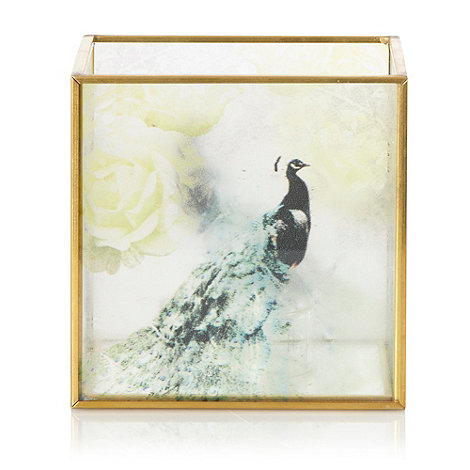 Butterfly Home by Matthew Williamson - Gold peacock motif tea light holder