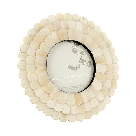 RJR.John Rocha - Cream round tile photo frame