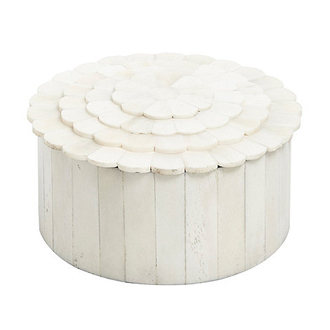 RJR.John Rocha - Cream round tiled box