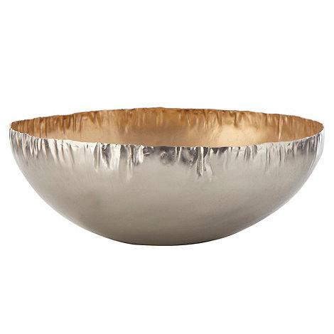 RJR.John Rocha - Metallic large crinkled edged bowl