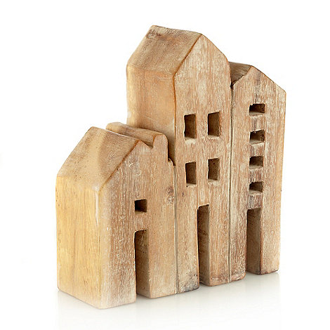 RJR.John Rocha - 3D wooden houses ornament