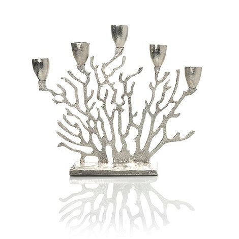 RJR.John Rocha - Silver coral dinner candle holder