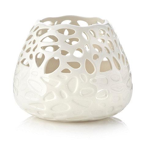 RJR.John Rocha - Cream cutout porcelain tealight candle holder