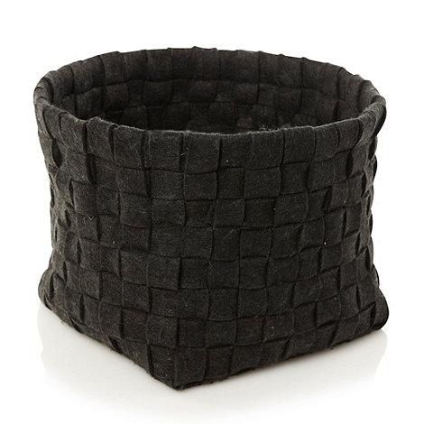 RJR.John Rocha - Designer grey large felt weave basket