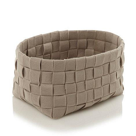 RJR.John Rocha - Designer taupe small felt weave basket