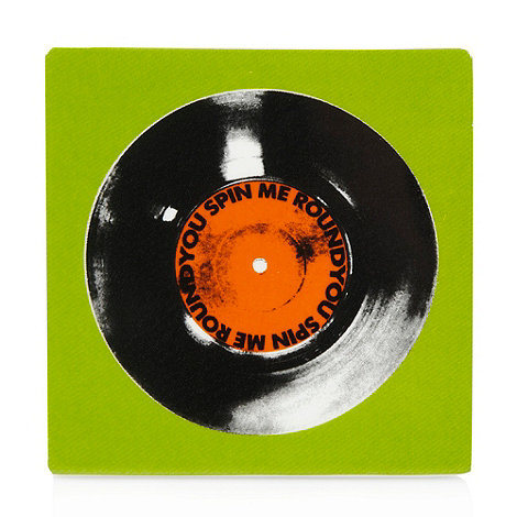 Ben de Lisi Home - Green record tile coaster