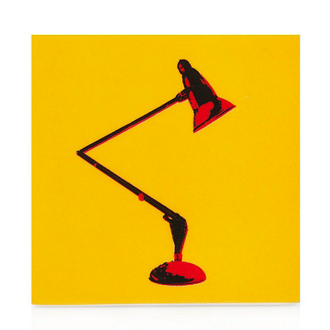 Ben de Lisi Home - Dark yellow lamp tile coaster