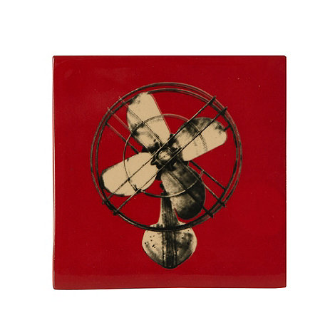 Ben de Lisi Home - Red fan tile coaster