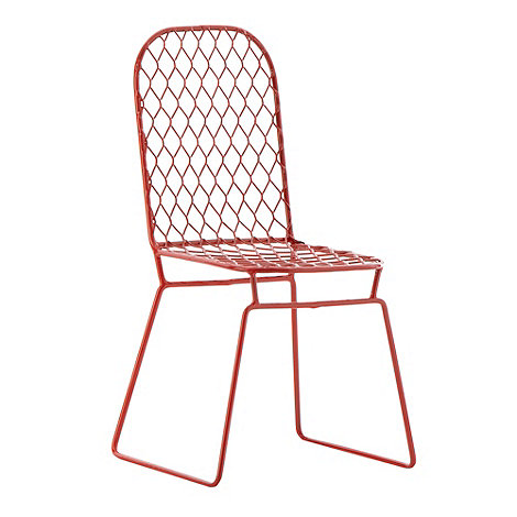 Ben de Lisi Home - Red wire small ornamental chair