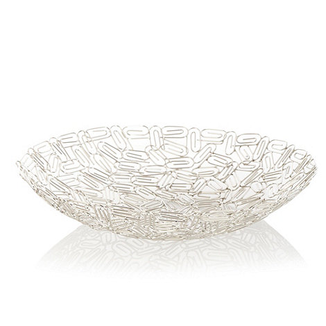 Ben de Lisi Home - Silver paperclip wire bowl
