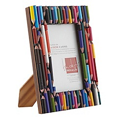 Ben de Lisi Home - Brown small pencil covered photo frame