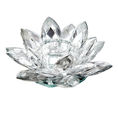 Star by Julien Macdonald - Glass lotus flower tealight holder