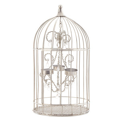 Star by Julien Macdonald - Silver bird cage tea light chandelier
