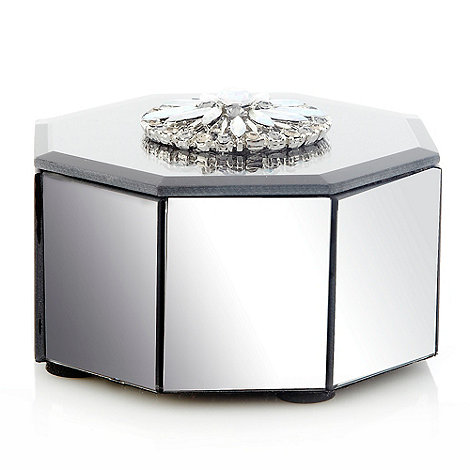 Star by Julien Macdonald - Grey mirrored octagonal trinket box
