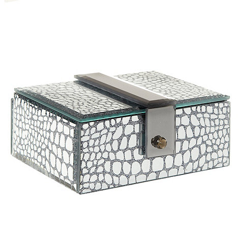 Star by Julien Macdonald - Silver snake mirrored jewellery box