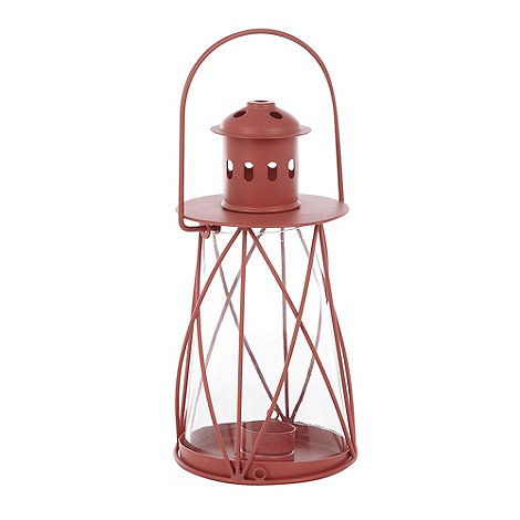 Debenhams - Coral tea light lantern