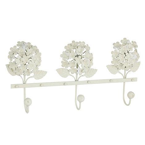 Debenhams - Metal triple flower hanging hook