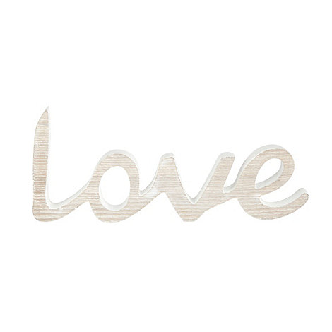 Debenhams - Cream +Love+ scroll ornament