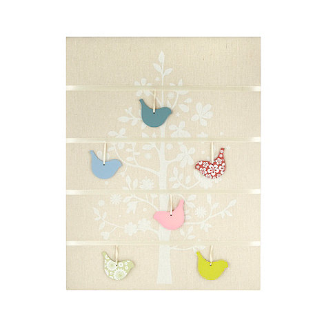 Debenhams - Cream hanging bird memory board