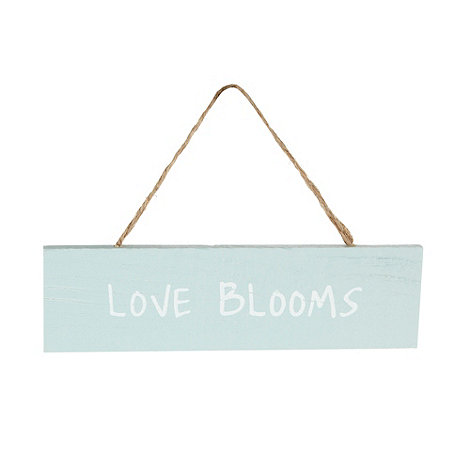 Debenhams - Wooden 'Love Blooms' sign