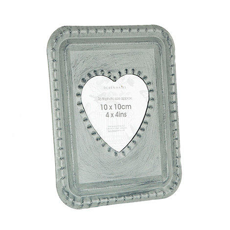 Debenhams - Grey heart 4x4 inch photo frame