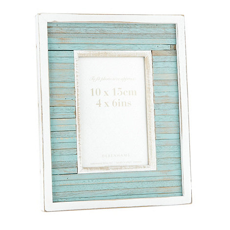 Debenhams - Blue 10 x 15cm wooden nautical photo frame