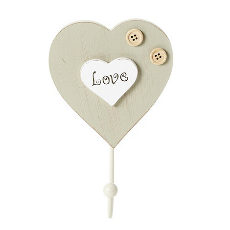 Debenhams - Love heart hanging hook