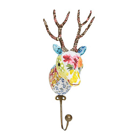 Debenhams - Fabric Christmas reindeer hook