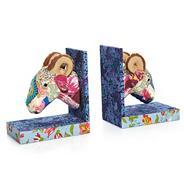 Fabric ram head bookends