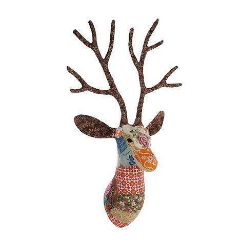 Debenhams - Multi fabric wall mounted stag