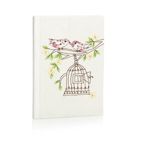 Debenhams - Beige birdcage notebook