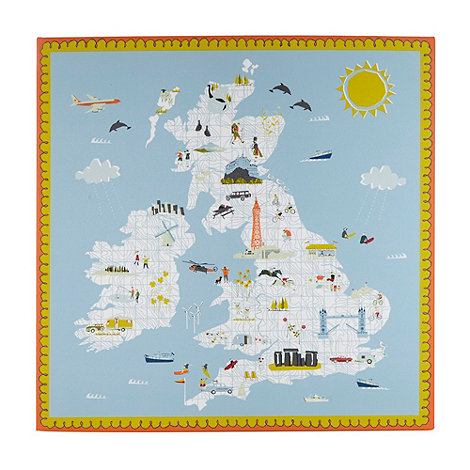 Yukari Sweeney/EDITION - Designer blue British Isles map wall art